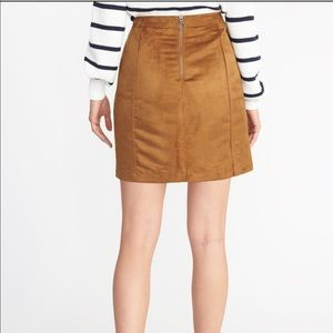 Old Navy Skirts - Faux- Suede Utility A-line Mini